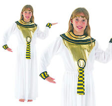 Childrens Cleopatra Fancy Dress Costume Ancient Egyptian Egypt Outfit 3-13 Yrs