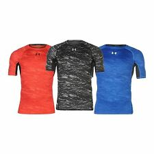 Under Armour Mens Print Training T Shirt Baselayer Top Clothing