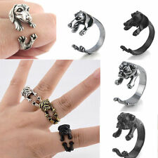 1PC Cute Dog / cat Ring Pet Antique Vintage Animal Gift Puppy Wrap Adjustable