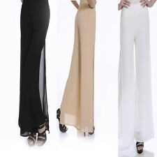 Ladies Womens Fashion Sheer Chiffon Gypsy Plain Long Maxi Skirt Dress