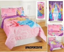DISNEY PRINCESS Twin-Single COMFORTER+SHEETS+CURTAINS+LAMP SET Bed In a Bag Room