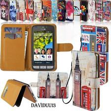 Stand Flip Card Wallet Leather Cover Case For Doro Liberto Models SmartPhone