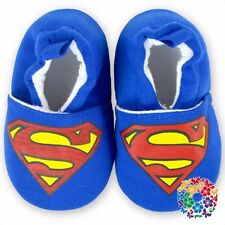 Baby Shoes Baby First Walkers Cotton Baby Crib Shoes blue superman boy