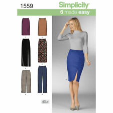 Simplicity Sewing Pattern 1559 Misses Pencil Skirts and Slim Pants 6 Made Easy
