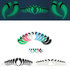 2-10mm Acrylic Horn Curved Ear Tunnels Taper Plugs Expander Stretcher Piercing