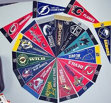 "Officially licensed 9"" NHL Team Pennants - Pick Your Favorite!"
