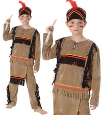 Childrens Kids Indian Boy Fancy Dress Costume Native Wild West Outfit 3-10 Yrs