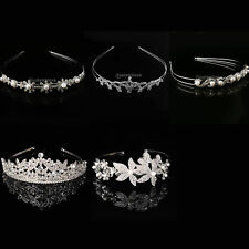 Bridal Bridesmaid Crystal Flower Hair Slide Comb Wedding Tiara Headband Gift