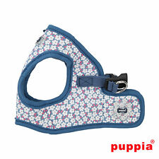 Dog Puppy Harness Soft Vest- Puppia - Hawthorn - Blue - Choose Size
