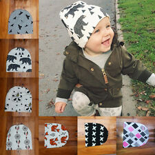Baby Toddler Boys Girls Cotton Cute Animals Crochet Hat Beanie Caps Gift 20x20cm