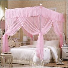 Four Corner Post Bedding Canopy Mosquito Netting Or Frame Post 4 Colors