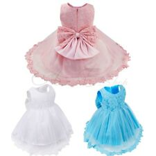 Lace Flower Tulle Baby Girls Dress Wedding Easter Bridesmaid Baptism Graduation