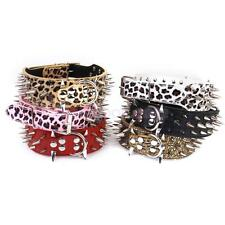 Spiked Studded PU Leather Dog Collar Large Pet Dog Pitbull Bully Terrier L XL