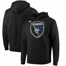 San Jose Earthquakes adidas Logo Set Pullover Hoodie - Black - MLS