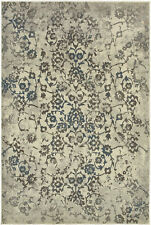 Sphinx Beige Contemporary Synthetics Leaves Petals Stems Area Rug Floral 5502H