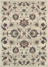 Sphinx Beige Scrolls Vines Circles Leaves Transitional Area Rug Floral 6684B