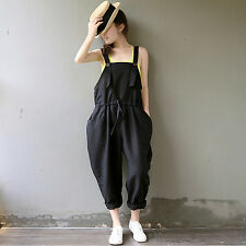 New Stylish Women Wide Leg Harem Pants Casual Loose Suspender Trousers Jumpsuit