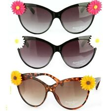 CAT EYE DAISY Flower PINK LEOPARD Black WHITE POLKA DOT Retro Vintage Sunglasses