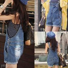 Fashion Womens Loose ShortsCasual Denim Jumpsuit Jeans Suspenders Pants Overalls