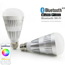10W E27 bluetooth RGBW Music play bulb Android smartphone control Lamp Magic LED