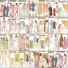 OOP Butterick Sewing Pattern Misses Nightgown Robes Pajamas Loungewear You Pick