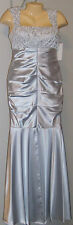 Hailey Logan Adrianna Papell Evening Dress Formal Size 2 Lace Satin Silver NWT