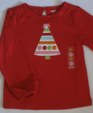 Gymboree Cozy Cutie Shirt 18-24 2T 3T NEW Red Ribbon Christmas Tree Top Twins