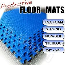 Anti-Fatigue Protective Workshop Floor Mats Tiles BLUE
