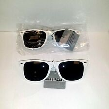 Lot of 12 Pieces - Unisex Sunglasses with White Plastic Frames