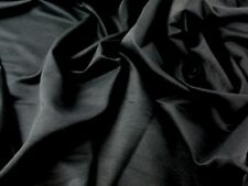 Glossy Bengaline Stretch Suiting Dress Fabric (Bengaline-Black-M)