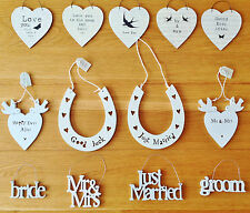 EAST OF INDIA SMALL WOODEN WEDDING SIGNS WEDDING GIFTS FAVOURS HANGING GIFT TAGS
