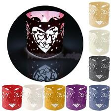 6pcs Love Heart Laser Cut LED Tea Light Holders Wedding Christmas Decor