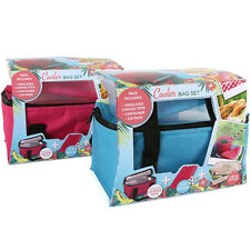 INSULATED COOLER BOX PICNIC LUNCH THERMAL PORTABLE CARRY TOTE STORAGE BAG NEW