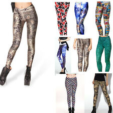 Women Graphic Printed 3D Punk Stretchy Leggings Funky Pencil Pants S-XXXXL