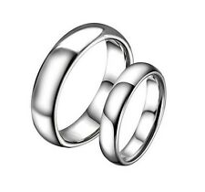 Men Women Silver Retro Fine Jewelry Tungsten Steel Couple Love Ring 5 8