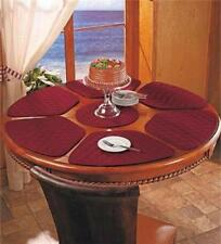 SEVEN-PIECE ROUND TABLE WEDGE-SHAPED QUILTED PLACEMAT SET - 4 COLORS AVAILABLE!