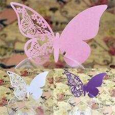 Fashion 50 Butterfly Place Escort Wine Glass Paper Card Wedding Party Bar Decor