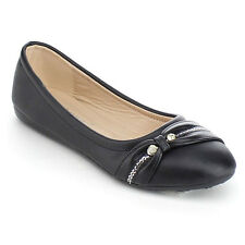 VIA PINKY ARIA-08F Children Girl Comfort Slide On Casual Ballet Flat Shoes