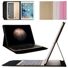 For iPad Air2 9.7inch Aluminum Bluetooth Keyboard Waterproof Leather Case Cover