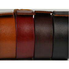 1 X Blank Genuine Leather Belt Strap Cow Hide DIY Veg Tan 38.5mm 100-140cm Brown
