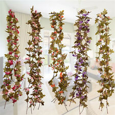 Artificial Fake Silk Rose Flower Vine Hanging Garland Home Wedding Party Decor