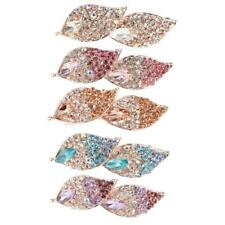 Women's Party Fashion Rhinestone Leaves Spring Back Hair Clip Hairpin Barrette
