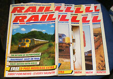 RAIL MAGAZINES VARIOUS ISSUES 1988