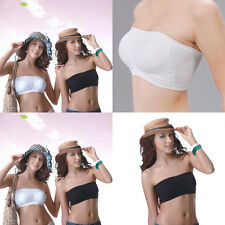 Vogue Women Strapless Boob Tube Top Bandeau Seamless Yoga Gym Sport Bra Gift