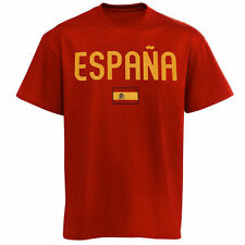 Spain Country Flag T-Shirt - Red - Country Flags