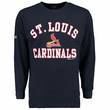 St. Louis Cardinals Stitches Wordmark Thermal Long Sleeve T-Shirt - Navy - MLB