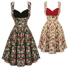 Dolly & Dotty Grace Floral Retro Vintage 1950s Style Party Prom Swing Tea Dress