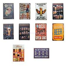 20x30cm Vintage Metal Sign Tin Poster Pub Bar Cafe Home Wall Decor Beer Theme