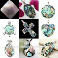 Fashion Natural Mother Of Pearl MOP Abalone Shell Bead Charm Pendant Jewelry