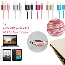 1m/3ft USB 3.1 Type-C Data&Charging Sync Cable For Macbook/Nokia N1/Letv One/Pro
